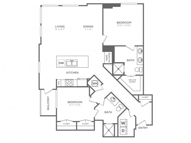 Captivate | 2 bed 2 bath | from 1481 square feet
