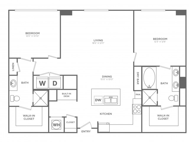 Flashy | 2 bed 2 bath | from 1305 square feet