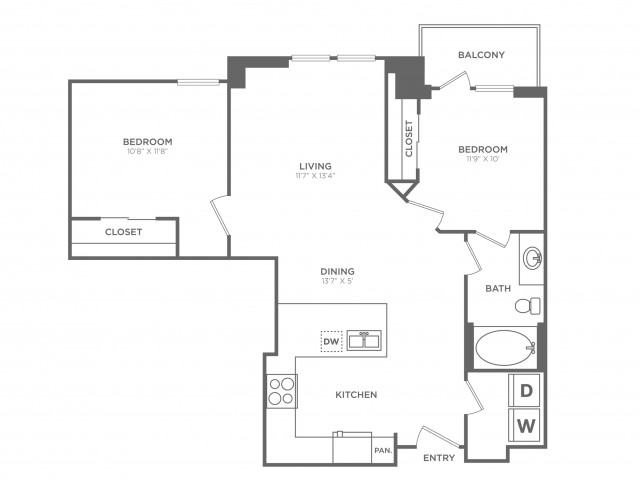Bewitched | 2 bed 1 bath | from 846 square feet
