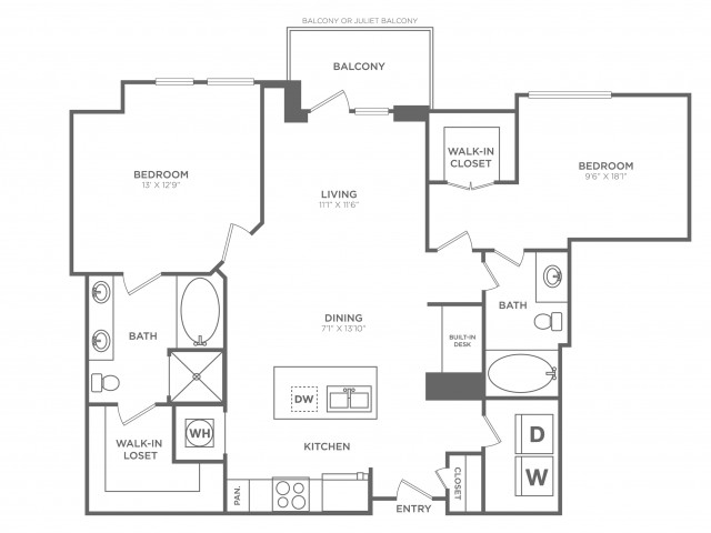 Brilliant   2 bed 2 bath   from 1178 square feet