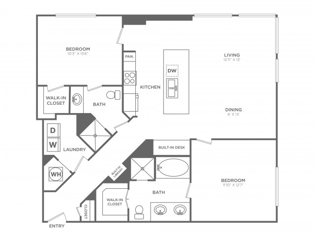 Intelligence | 2 bed 2 bath | from 1265 square feet