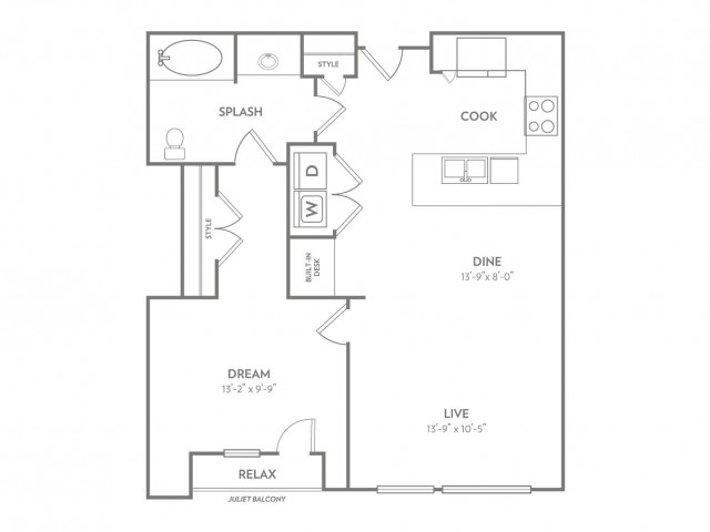 Remarkable | 1 bed 1 bath | from 860 square feet