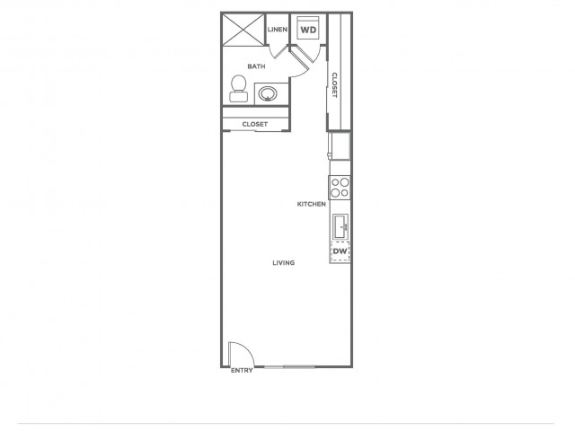 A6.1 | Studio1 bath | from 486 square feet