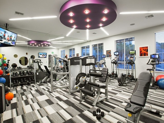 Image of Modern fitness center with cardio and weight training for The Franklin