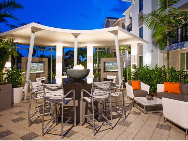 Image of Outdoor gazebo with gas grills and fire pit for The Franklin