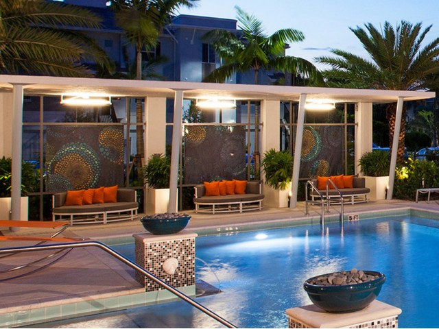 Image of Relaxing Poolside Cabanas for The Franklin