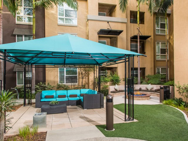 Image of Zen Garden with Fire Pit for Calypso Apartments and Lofts