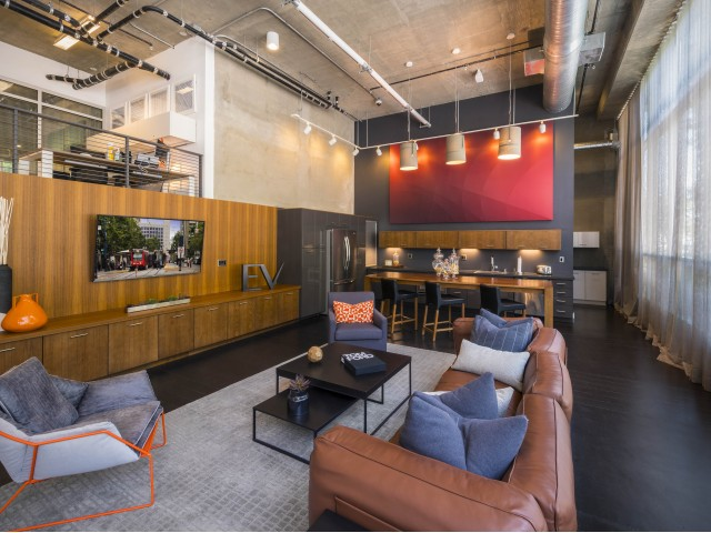 Image of Modern Lobby with Cozy Lounge Area for EV Lofts