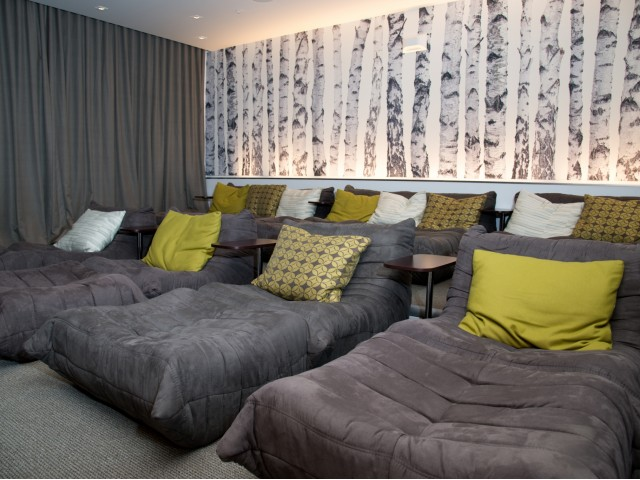 Image of Media Lounge with Soft Seating, Large Screen TV, Full A/V for EV Lofts