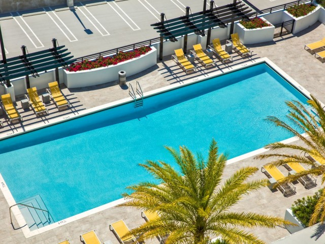 Image of 65-foot-long swimming pool for Intown