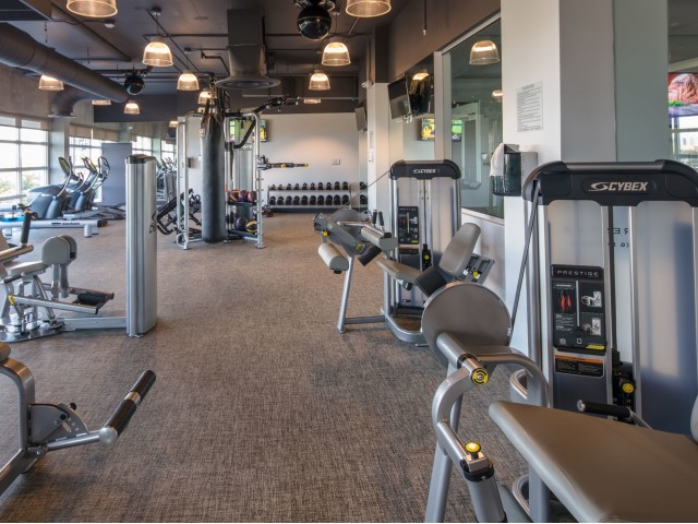 Image of 24-hour state-of-the-art fitness center with yoga and sculpting room for Intown