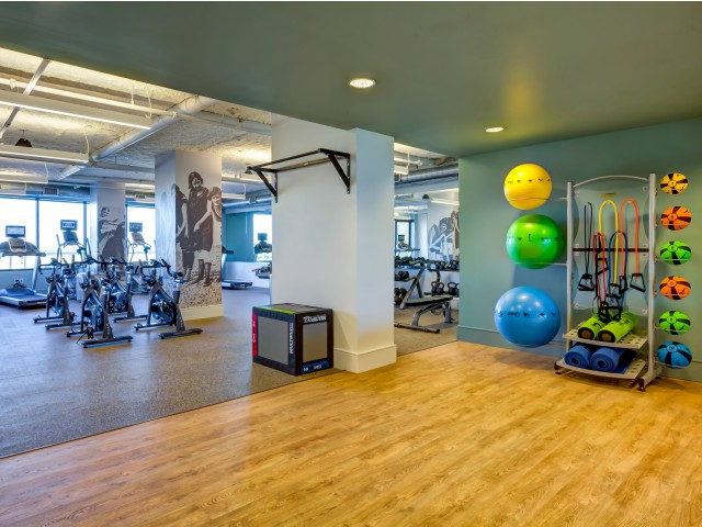 Fitness center with spin & yoga studio
