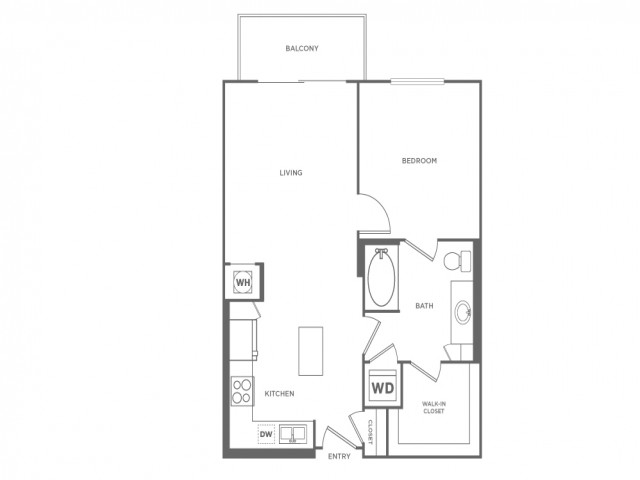 A1 | 1 bed 1 bath | from 697 square feet