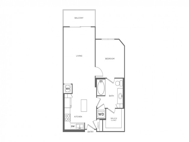 A1D | 1 bed 1 bath | from 746 square feet