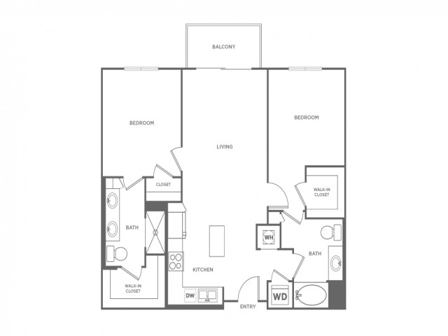 B1 | 2 bed 2 bath | from 1062 square feet