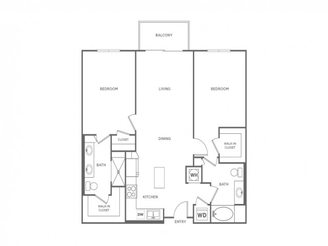 B1B | 2 bed 2 bath | from 1133 square feet