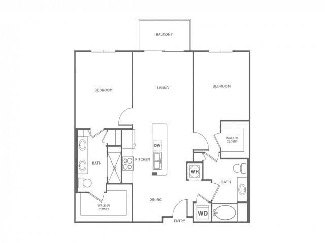 B2 | 2 bed 2 bath | from 1062 square feet