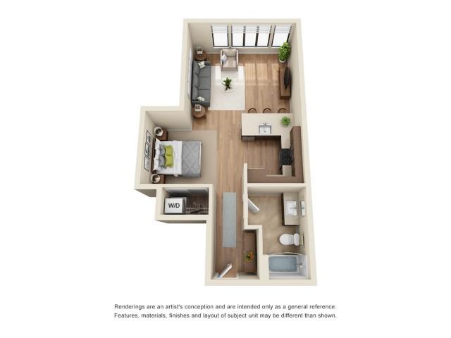 SP4R | Studio 1 bath | from 644 square feet