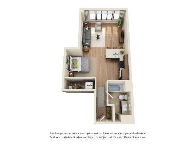 SP5R | Studio 1 bath | from 655 square feet