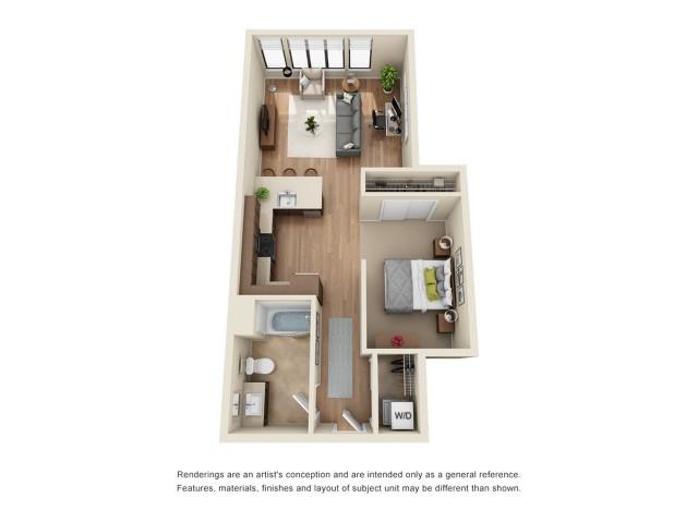 SP7R | Studio 1 bath | from 726 square feet