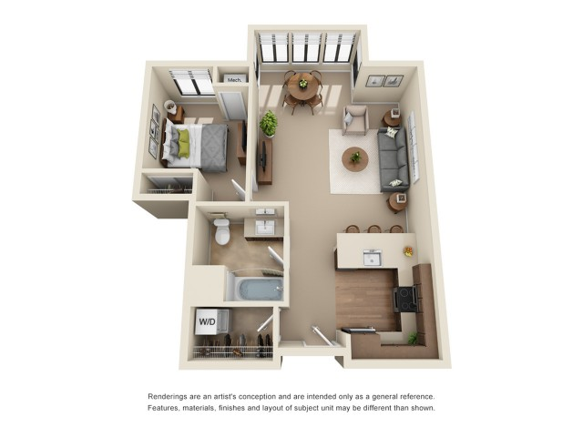A6R | 1 bed 1 bath | from 750 square feet
