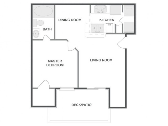 A2 - Sophisticated | 1 bed 1 bath | from 643 square feet