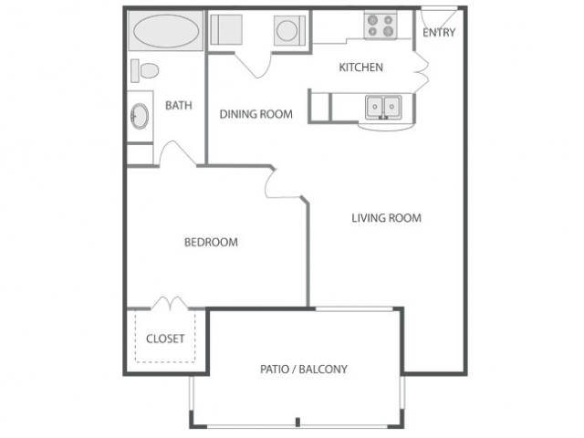 A2A - Tailored | 1 bed 1 bath | from 695 square feet