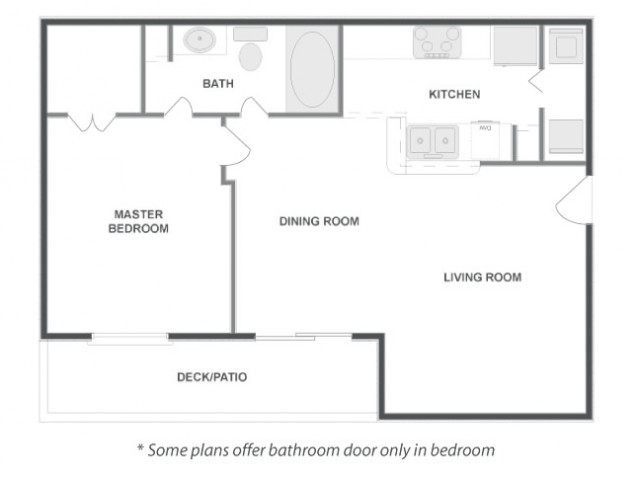 A3 - Classic   1 bed 1 bath   from 711 square feet