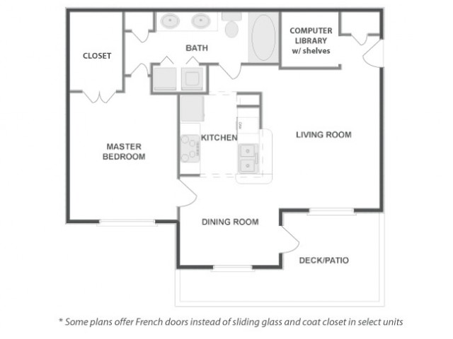 A4 - Classic   1 bed 1 bath   from 802 square feet