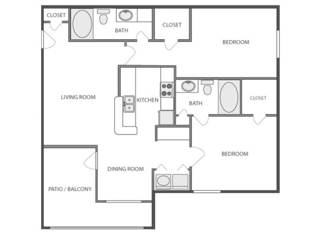 C4 - Sophisiticated | 2 bed 2 bath | from 1040 square feet