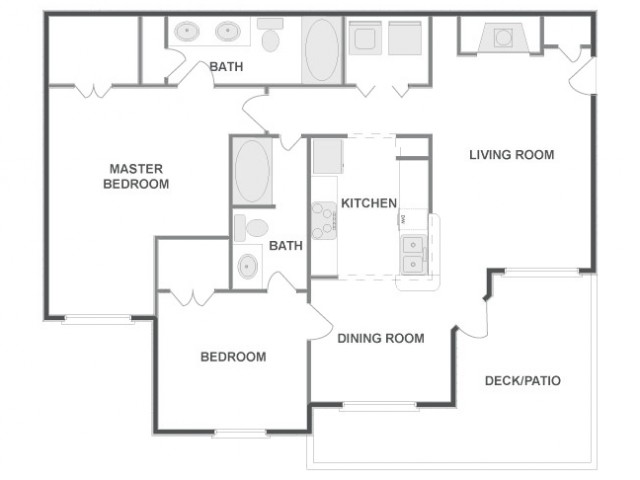 C4B - Classic   2 bed 2 bath   from 1091 square feet