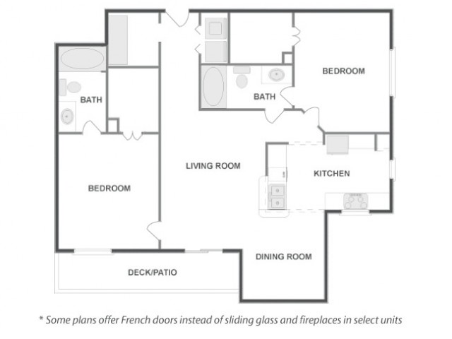 C4C - Sophisticated   2 bed 2 bath   from 1095 square feet