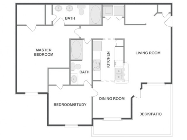 C4D - Classic | 2 bed 2 bath | from 1099 square feet
