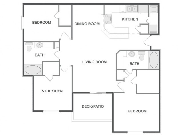D3 - Sophisticated | 3 bed 2 bath | from 1295 square feet