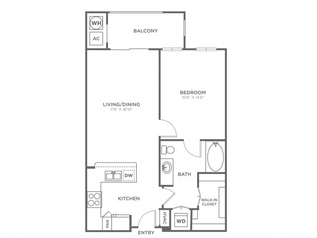 Alexandria I | 1 bed 1 bath | from 690 square feet