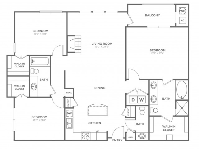 Shirlington | 3 bed 3 bath | from 1521 square feet