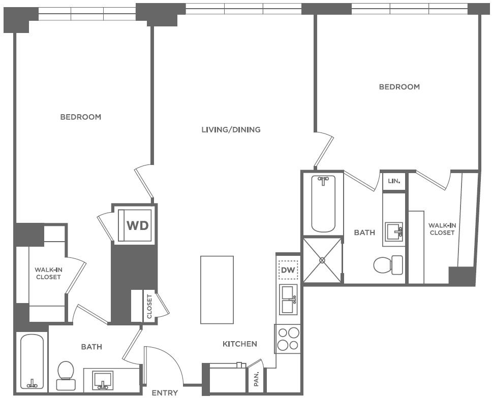 B1 | 2 bed 2 bath | from 1,140 square feet