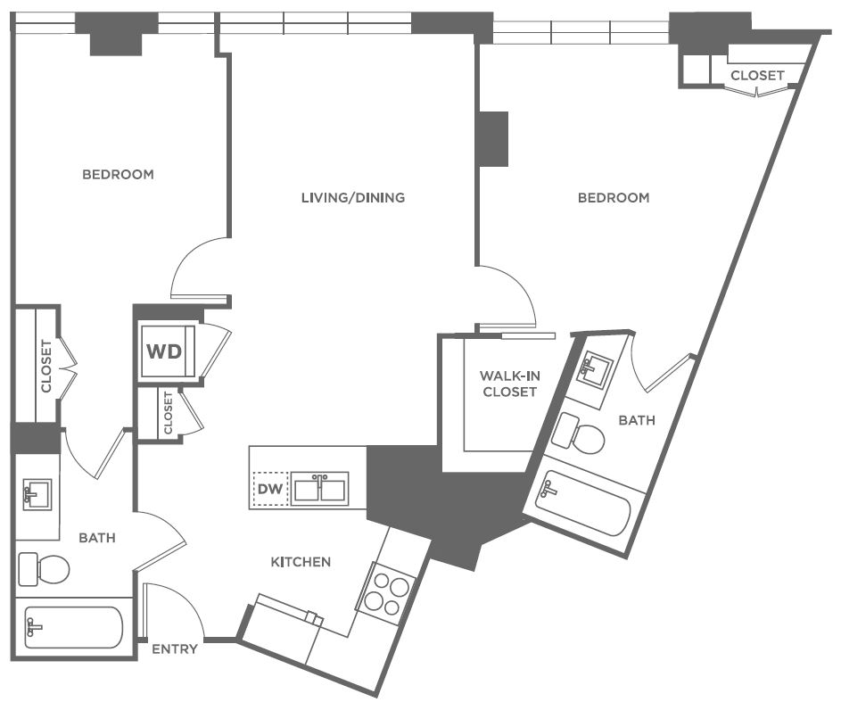 B5 | 2 bed 2 bath | from 1,030 square feet