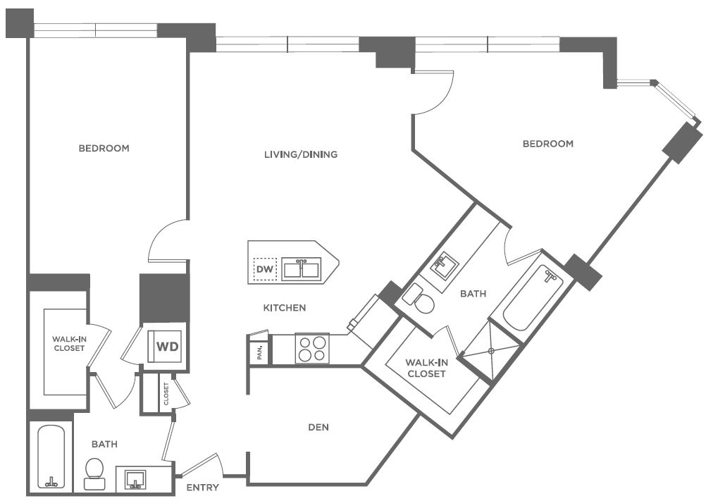 B9 | 2 bed 2 bath | from 1,249 square feet
