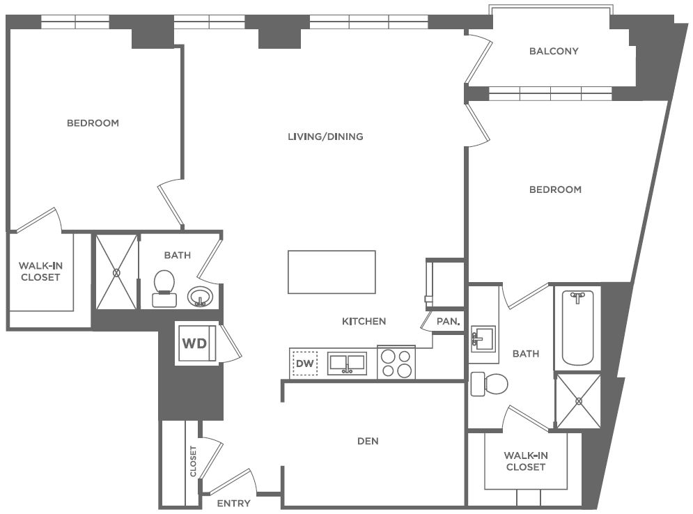 B11 | 2 bed 2 bath | from 1,187 square feet