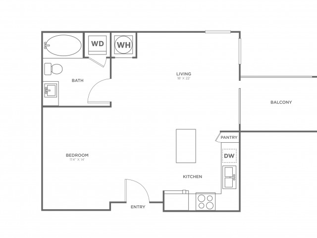 S3 | Studio1 bath | from 682 square feet