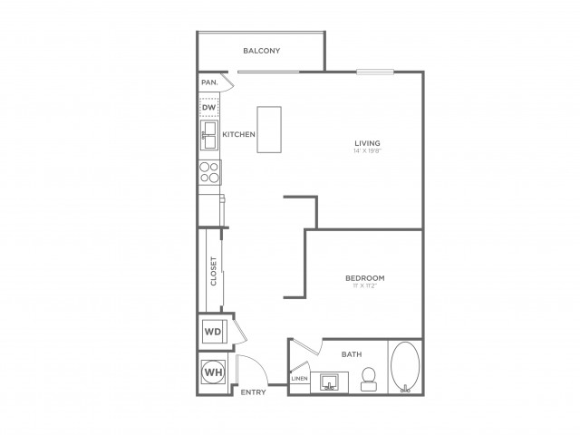 S4 | Studio1 bath | from 717 square feet