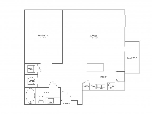 S5 | Studio1 bath | from 856 square feet