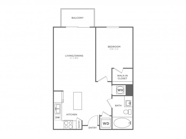 A7 | 1 bed 1 bath | from 748 square feet