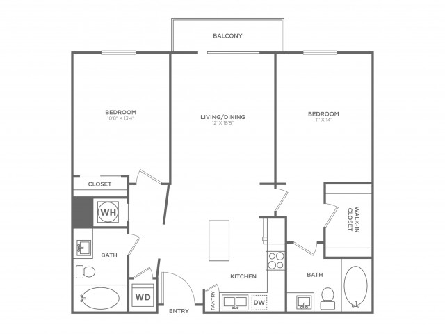 B3 | 2 bed 2 bath | from 1062 square feet