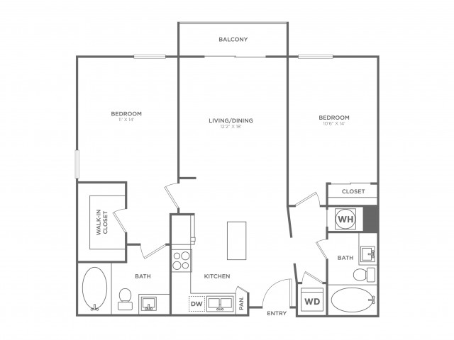 B5 | 2 bed 2 bath | from 1079 square feet