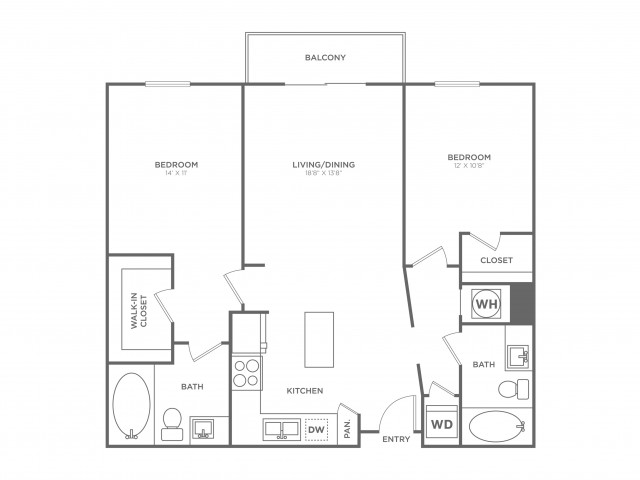 B7 | 2 bed 2 bath | from 1148 square feet