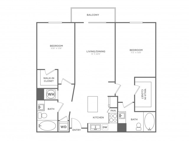 B9 | 2 bed 2 bath | from 1197 square feet