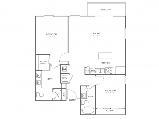BC2 | 2 bed 2 bath | from 1205 square feet