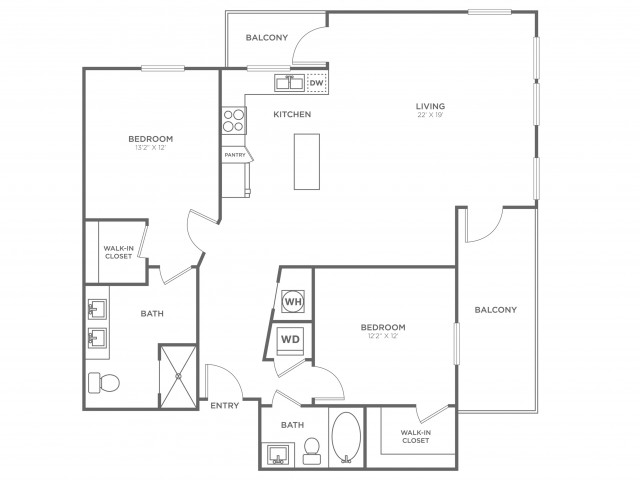 BC6 | 2 bed 2 bath | from 1513 square feet